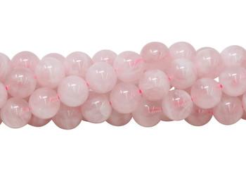 Light Pink Madagascar Rose Quartz Polished 10mm Round