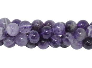 Dog Tooth Amethyst Polished 8mm Round