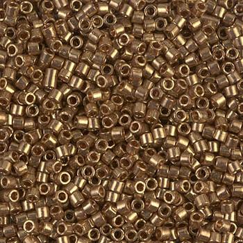 Delicas Size 10 Miyuki Seed Beads -- 022L Metallic Light Bronze