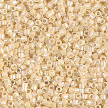 Delicas Size 10 Miyuki Seed Beads -- 157 Opaque Cream AB
