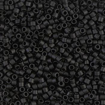 Delicas Size 10 Miyuki Seed Beads -- 310 Black Matte