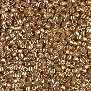 Delicas Size 10 Miyuki Seed Beads -- 1834 Duracoat Galvanized Champagne