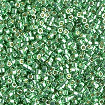 Delicas Size 10 Miyuki Seed Beads -- 1844 Duracoat Galvanized Dark Mint Green