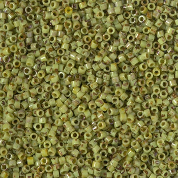 Delicas Size 10 Miyuki Seed Beads -- 2265 Picasso Chartreuse