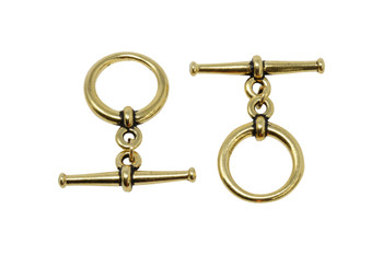 Tapered Toggle Bar and Eye - Gold Plated