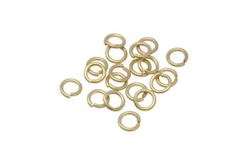 Satin Hamilton Gold 6mm 18 Gauge OPEN Jump Rings - 20 Pieces
