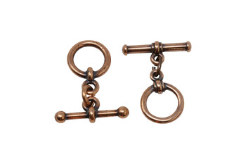 Bar and Toggle Bar and Eye - Copper Plated