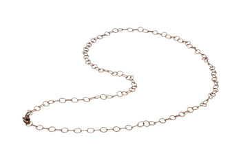 """Antique Copper 24"""" Cable Link Chain With Trigger Clasp"""