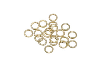Satin Hamilton Gold 6mm 18 Gauge CLOSED Jump Rings - 20 Pieces