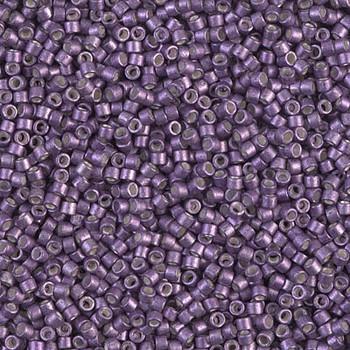 Delicas Size 11 Miyuki Seed Beads -- 1185 Galvanized Eggplant Semi Matte