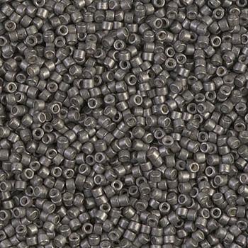 Delicas Size 11 Miyuki Seed Beads -- 1186 Galvanized Graphite Semi Matte