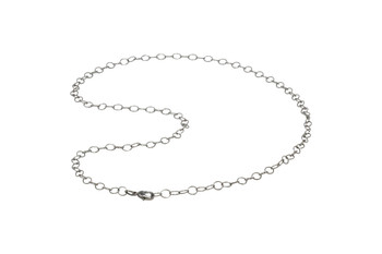 "Gunmetal 24"" Cable Link Chain With Trigger Clasp"