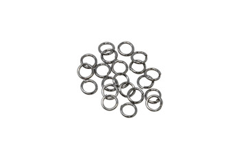 Gunmetal Plated 6mm Round 21 Gauge OPEN Jump Rings - 20 Pieces