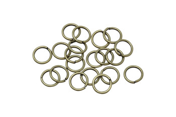 Antique Brass 8mm Round 18 Gauge OPEN Jump Rings - 20 Pieces