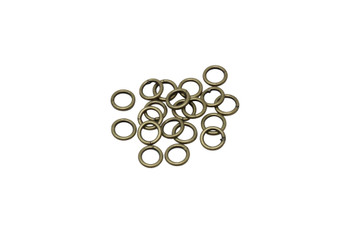 Antique Brass 6mm Round 18 Gauge CLOSED Jump Rings - 20 Pieces