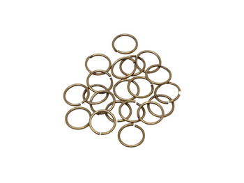 Antique Brass 10mm Round 18 Gauge OPEN Jump Rings - 20 Pieces