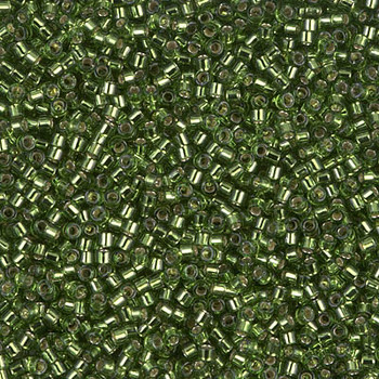 Delicas Size 11 Miyuki Seed Beads -- 1207 Olive / Silver Lined