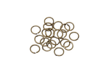 Brass 7.8mm Round 19 Gauge OPEN Jump Rings - 20 Pieces
