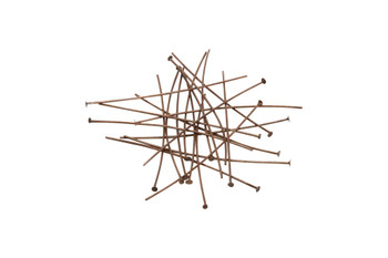 "Antique Copper Plated 2"" Long 20 Gauge Head Pins - 20 Pieces"