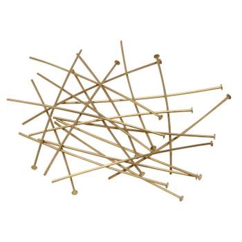 """Brass 2"""" Long 21 Gauge Head Pins - 20 Pieces"""