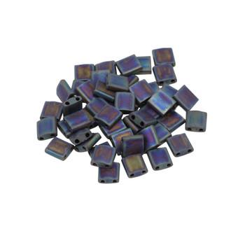 5mm Tila Beads -- Matte Black AB