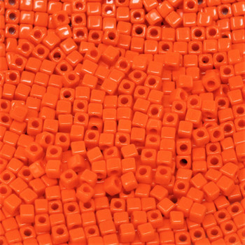 1.8mm Miyuki Cube Seed Beads -- Orange