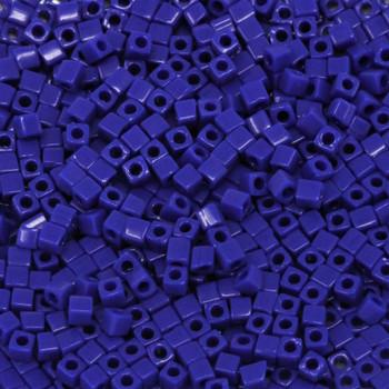 1.8mm Miyuki Cube Seed Beads -- Opaque Cobalt