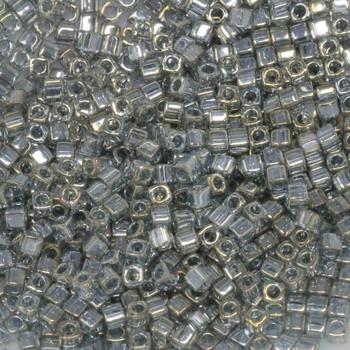 1.8mm Miyuki Cube Seed Beads -- Ghost Grey / Gold Luster