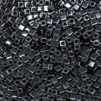 1.8mm Miyuki Cube Seed Beads -- Hematite