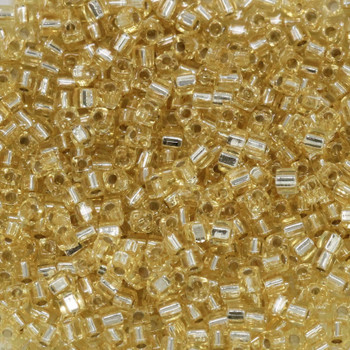 1.8mm Miyuki Cube Seed Beads -- Gold / Silver Lined