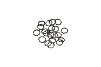 Antique Silver Plated 6mm Round 21 Gauge OPEN Jump Rings - 20 Pieces