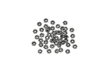 Silver Plated 3mm Daisy - 50 Pieces