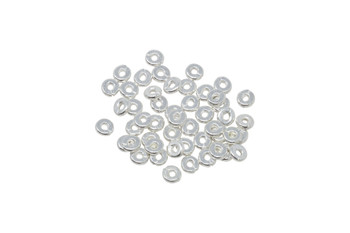Silver Plated 4mm Kenyan - 50 Pieces