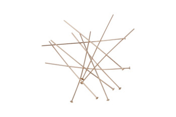 "14K Rose Gold Filled 1.5"" Long 24 Gauge Head Pins - 10 Pieces"