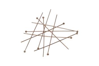 "14K Rose Gold Filled 1.5"" Long 24 Gauge Ball End Head Pins - 10 Pieces"
