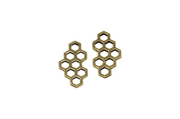 Honey Comb Link - Gold Plated