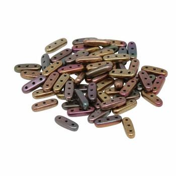 CzechMates® Beam Beads -- Metallic Bronze Iris Matte