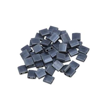 5mm Tila Beads -- Matte Blue Grey