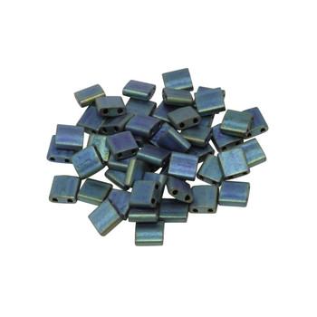 5mm Tila Beads -- Blue Teal Iris Matte