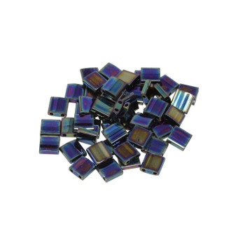 5mm Tila Beads -- Medium Blue Iris