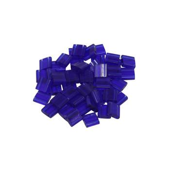 5mm Tila Beads -- Transparent Cobalt