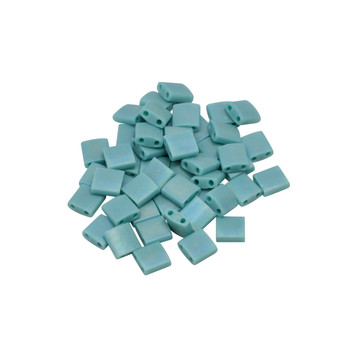 5mm Tila Beads -- Blue Turquoise Rainbow Matte