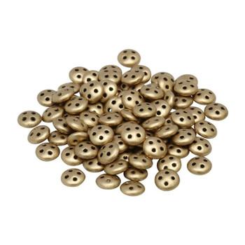 CzechMates® QuadraLentil Beads -- Metallic Flax Matte