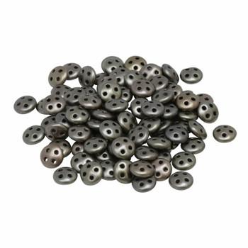 CzechMates® QuadraLentil Beads -- Metallic Leather Matte