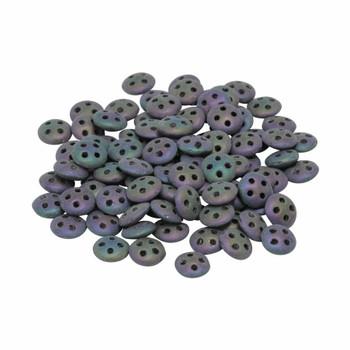 CzechMates® QuadraLentil Beads -- Purple Iris Matte