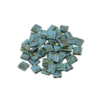 5mm Tila Beads -- Picasso Turquoise