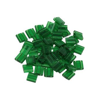 5mm Tila Beads -- Transparent Green