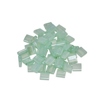 5mm Tila Beads -- Seafoam Green Luster