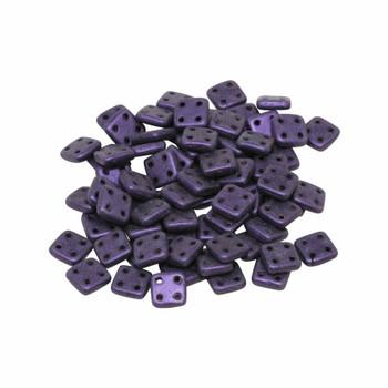 CzechMates® QuadraTile Beads -- Metallic Purple Suede