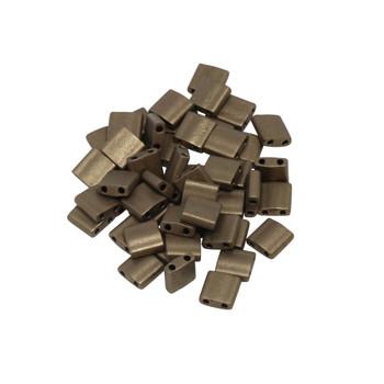 5mm Tila Beads -- Metallic Bronze Matte